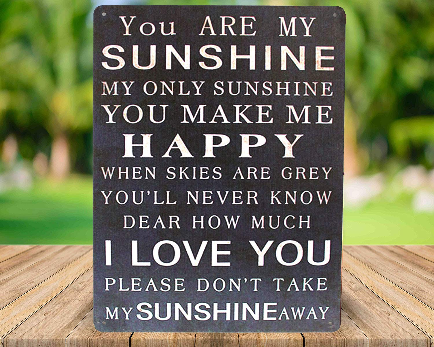 Funny Metal Tin Sign Vintage Art Poster Plaque Living Room Bedroom Home Wall Decor SUMIK You are My Sunshine You Make Me Happy I Love You