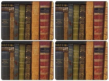 Pimpernel Sets de table Motif livres à archives-Lot de 4: Amazon.ca ...
