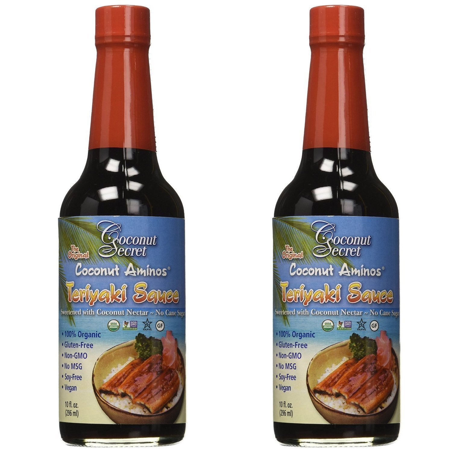 Coconut Secret, Teriyaki Sauce, Coconut Aminos, 10 fl oz (2-Pack)