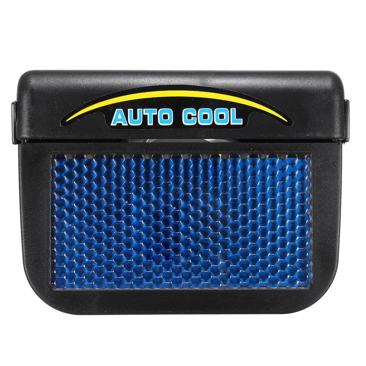 AAPP Shop Solar Sun Power Mini Condizionatore per auto Finestrino Ventilazione automatica Ventilatore portatile Condizionatore d'aria per auto