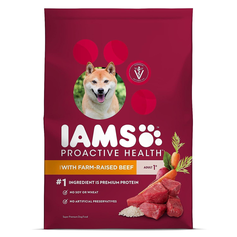IAMS Proactive Health Dry Dog Food, Beef Rice, 26.2 lbs. Standard Packaging