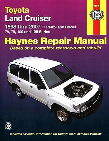 toyota land cruiser repair manual haynes manual service manual rh amazon co uk 1990 Toyota Corolla Engine 1990 Toyota Corolla Engine
