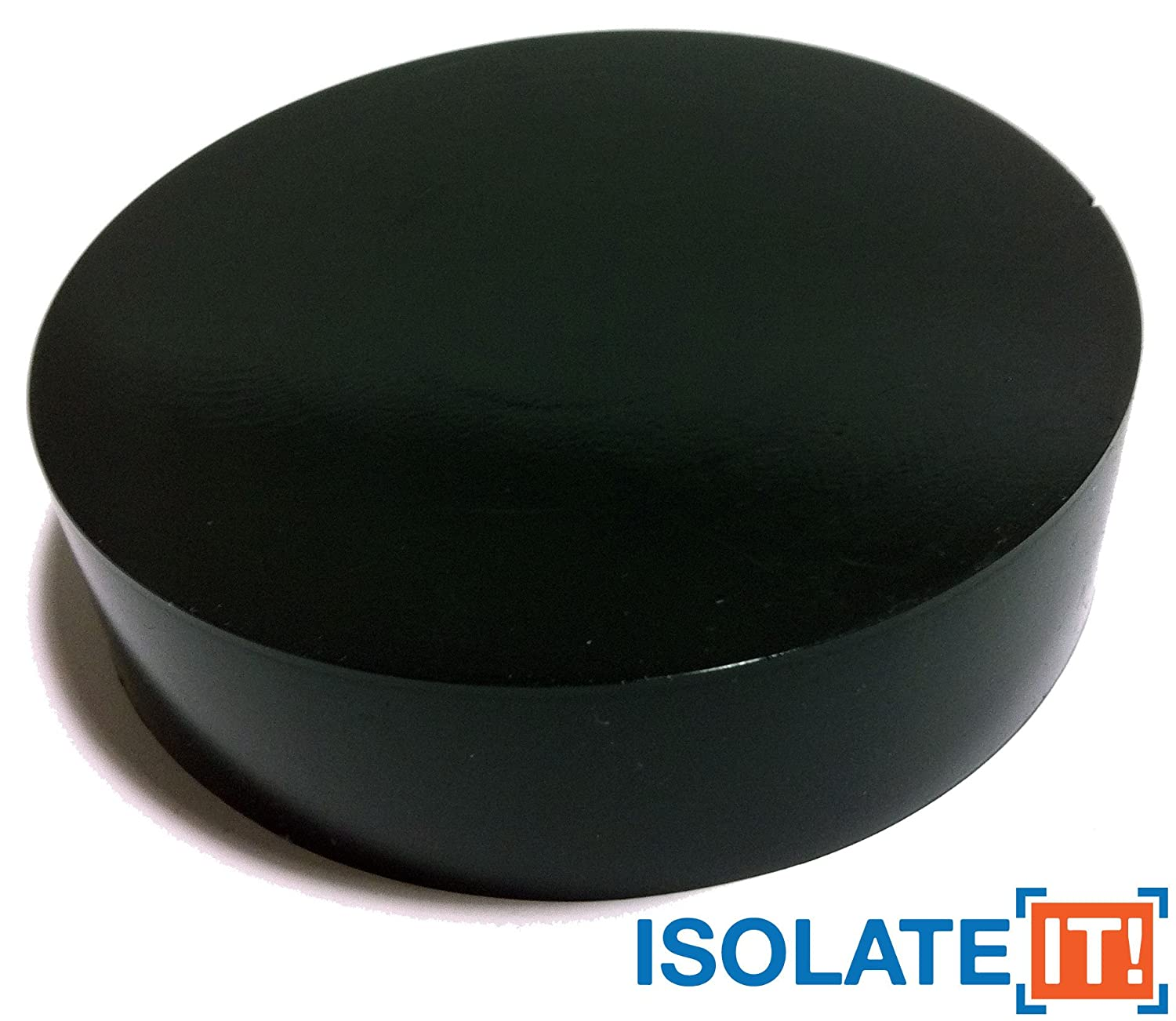 Sorbothane Vibration Isolation Circular Pad 50 Duro (2.54cm Thick 10.16cm Dia.) - 4 Pack Isolate It! 0534100-50-4