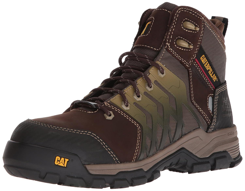 Caterpillar Men's Induction Waterproof Nano Toe Brown Industrial Boot