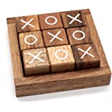 Tic Tac Toe for Kids and Adults Coffee Table Living Room Decor and Desk Decor Family Games Night Classic Board Games Wood Rus