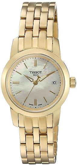 Tissot CLASSIC DREAM T0332103311100 - Reloj de mujer de cuarzo, correa de acero inoxidable color oro: Tissot: Amazon.es: Relojes