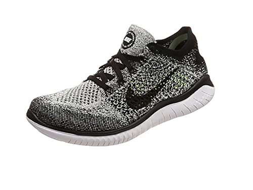designer fashion ace81 77427 Nike WMNS Free RN Flyknit 2018, Sneakers Basses Femme, Blanc (White/Black