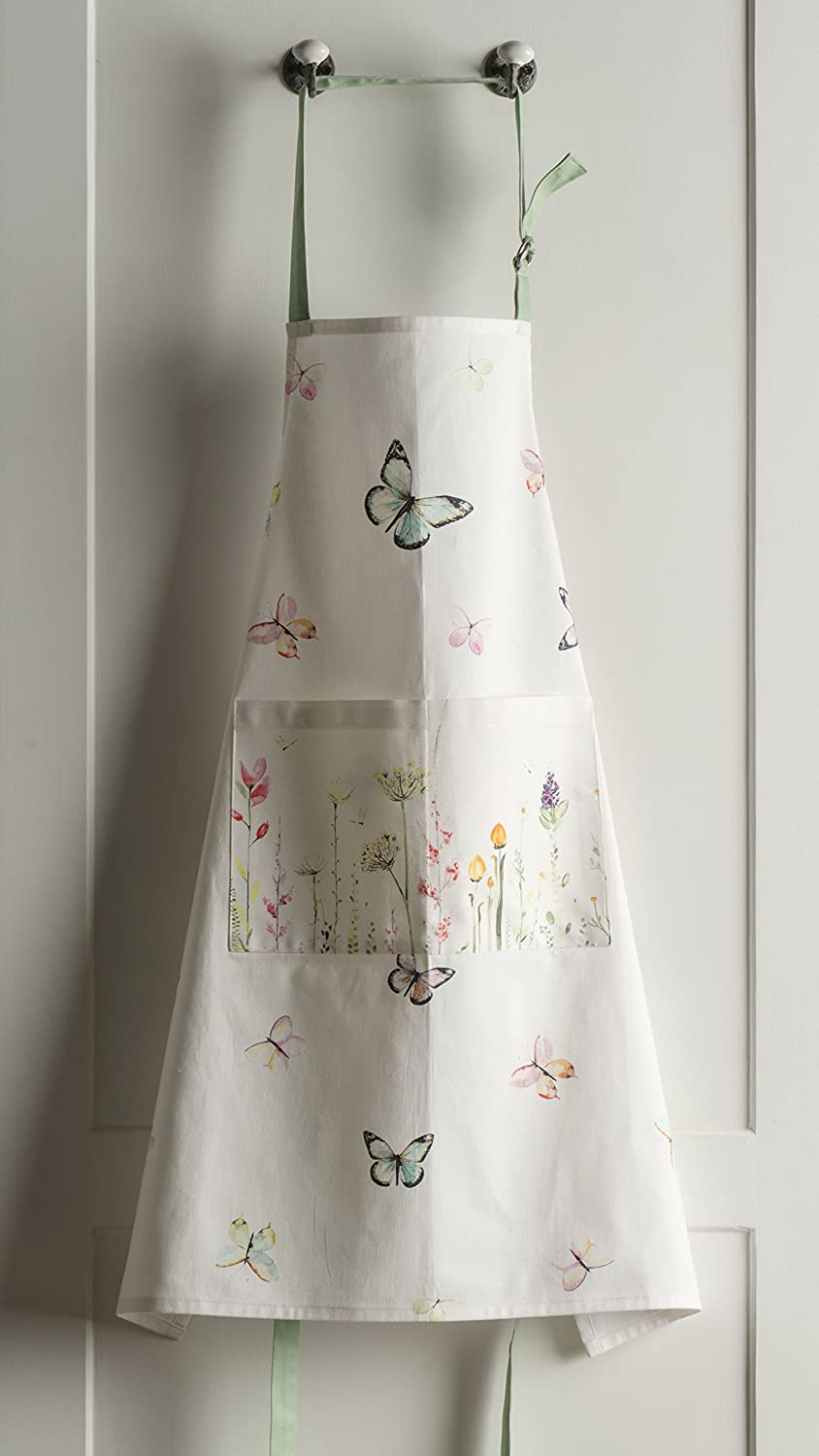 inch Maison d Hermine Birdies On Wire 100/% Cotton Apron with an Adjustable Neck /& Two Side Pockets inch by 31.50 27.50