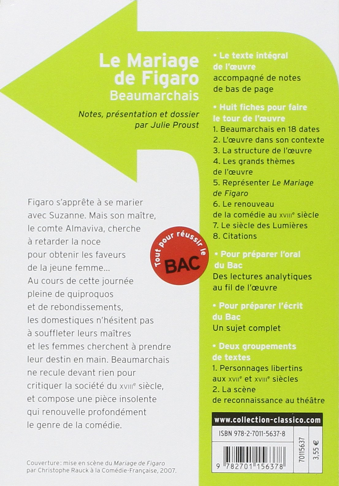 Le Mariage De Figaro Comédie En Cinq Actes En Prose French