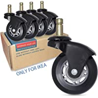 """AXL 2.5"""" Office Chair Caster Wheel Replacement for IKEA Rollerblade Wheels Heavy Duty Casters for Hardwood Floors Safe…"""