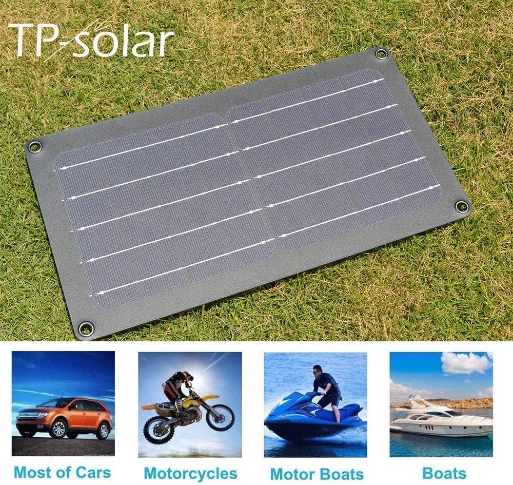 TP-solar 12V 10W Solar Autobatterie Ladeger/ät Tragbares Akku-Ladeger/ät Solarpanel Backup f/ür Auto-Boot RV Traktor Motorrad Auto und Batterien