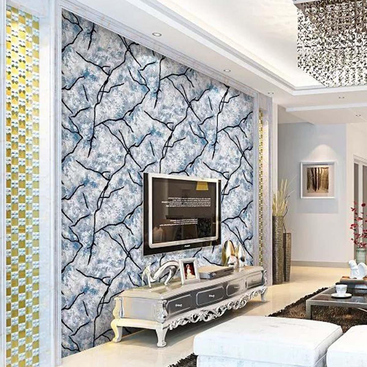 大切な Color 3dの壁紙モダンなミニマリスト3次元のストライプdeerskin不織布の壁紙の壁の背景3つを購入する無料 Blue B07bvkqcf6 Blue 壁紙 Www Tournamentofroses Com