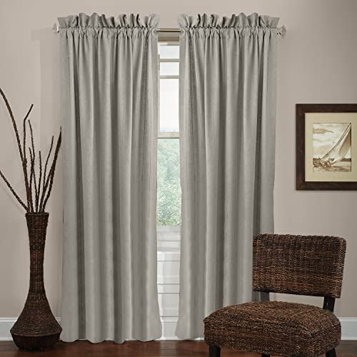 Veratex The Madison Window Collection 100 Linen Made in the USA Modern Elegant Grommet Window Valance, Indigo