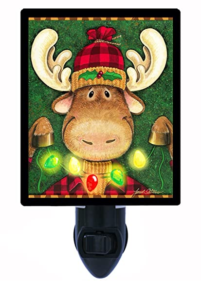 night light moose celebration christmas lights