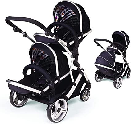 Duellette BS Twin Tandem double Pram Pushchair stroller from newborn