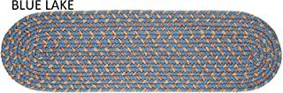 product image for Rhody Rug Ellsworth Indoor/Outdoor Reversible Braided Stair Treads (8 inch x 28 inch)(Set of 4) - 1'10 x 2'10 Blue/Beige