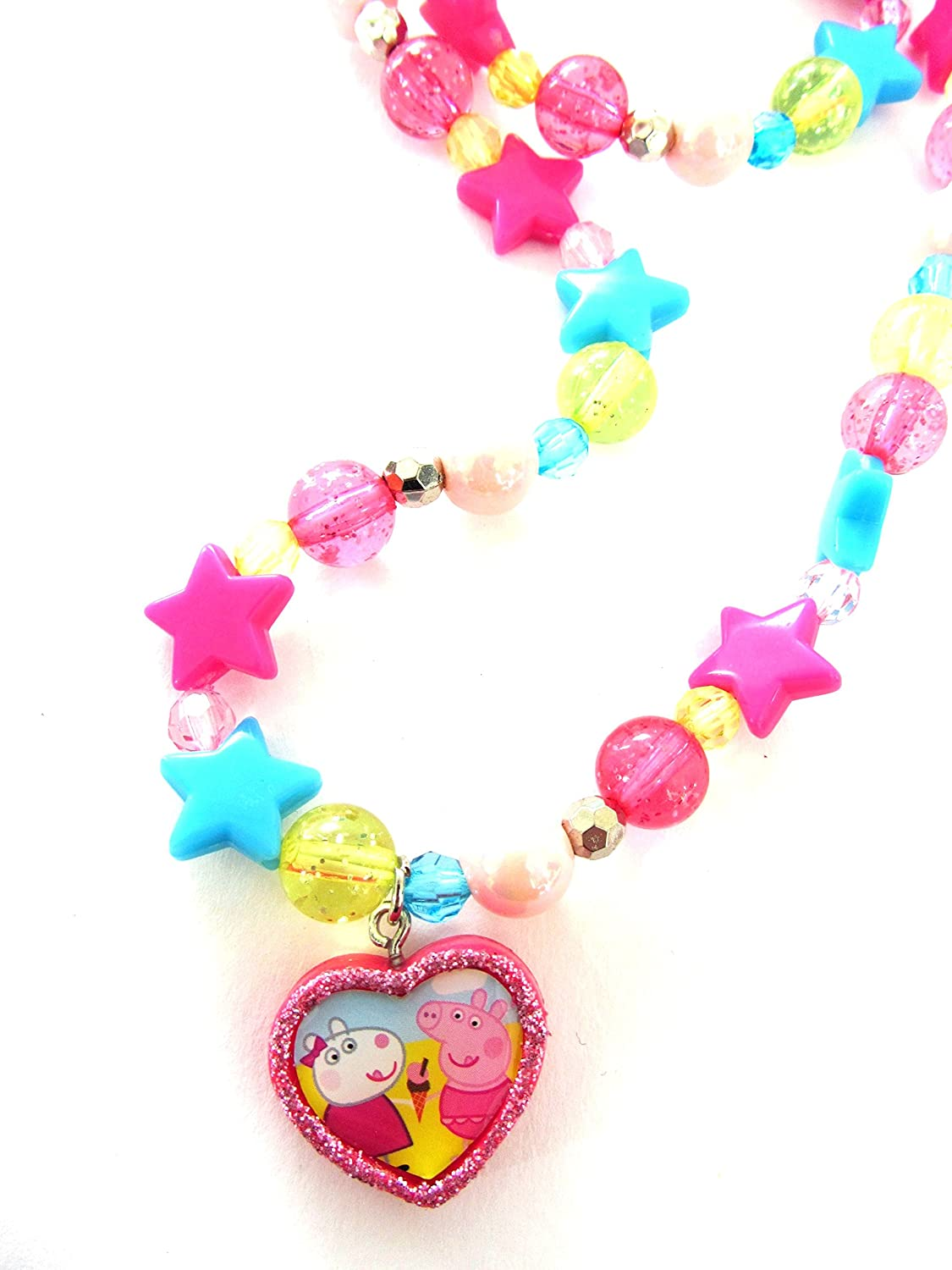 Peppa pig necklace and bracelet set (accesorio de disfraz): Amazon ...