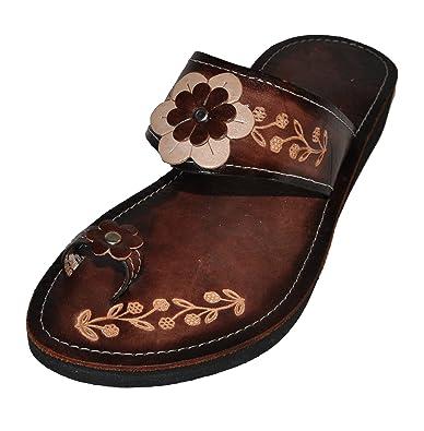 fefeae598 Women s Authentic Handmade Mexican Sandals (Huaraches) Flor mich
