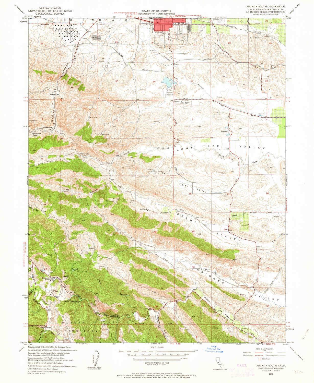Amazon.com : YellowMaps Antioch South CA topo map, 1:24000 ...