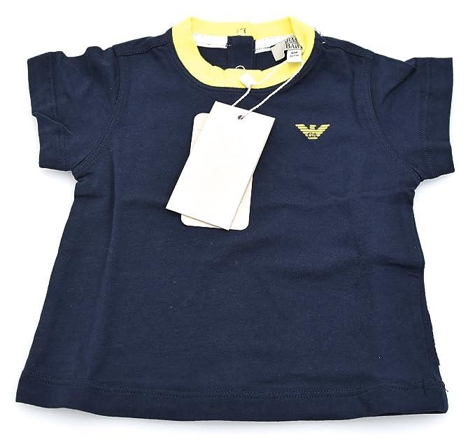 ARMANI BABY T-Shirt Camisetas Manga Corta ÍNDICO Para Niño Bebé Art. CDH02 6