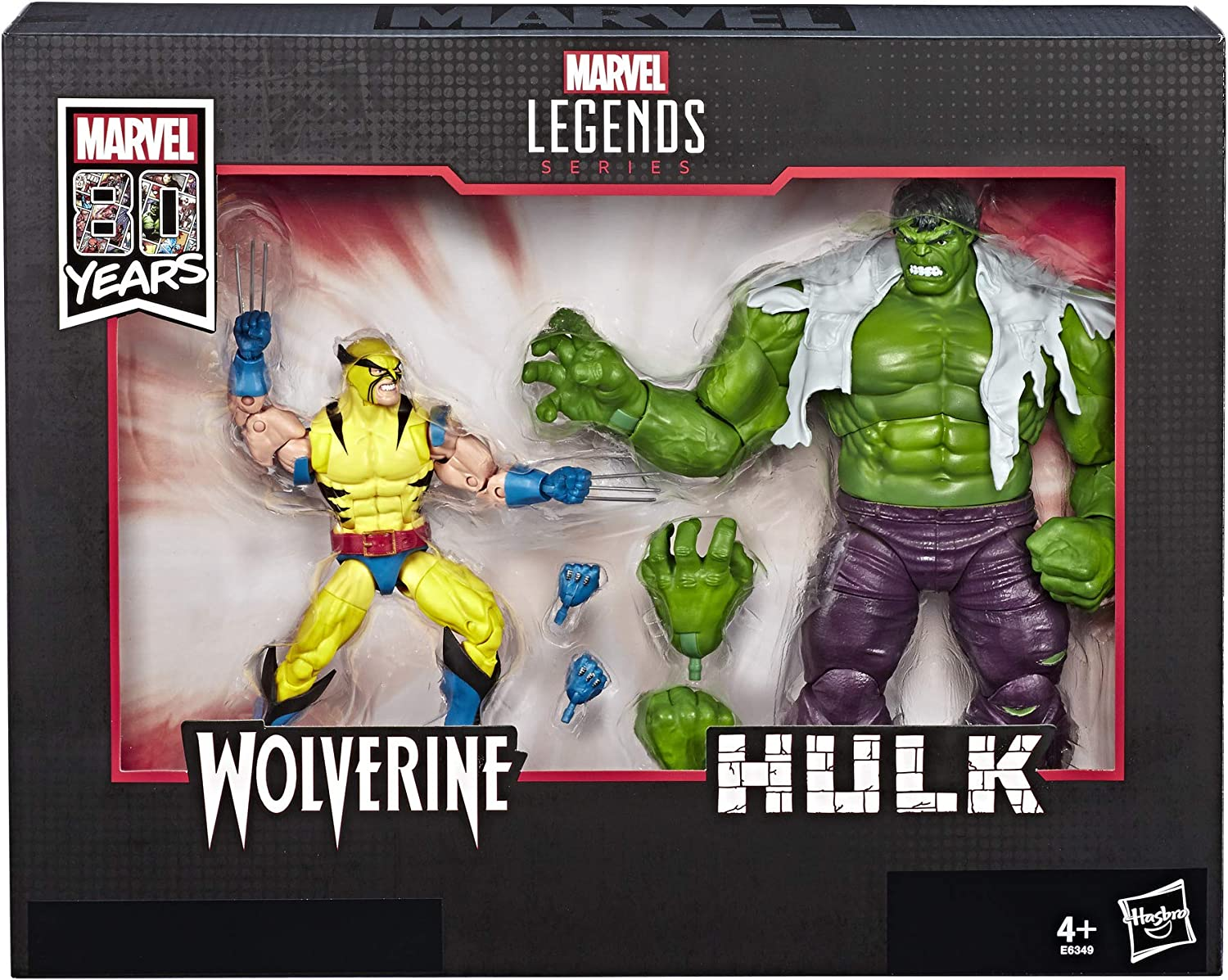 Marvel Legends 80th Anniversary Wolverine and Hulk 6-Inch Action ...