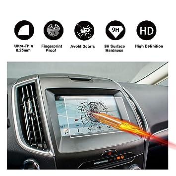 RUIYA Protector de pantalla de vidrio templado para 2015 2016 2017 Ford S-Max II (SYNC 2/3) sistema de navegación,Crystal Clear HD película ...