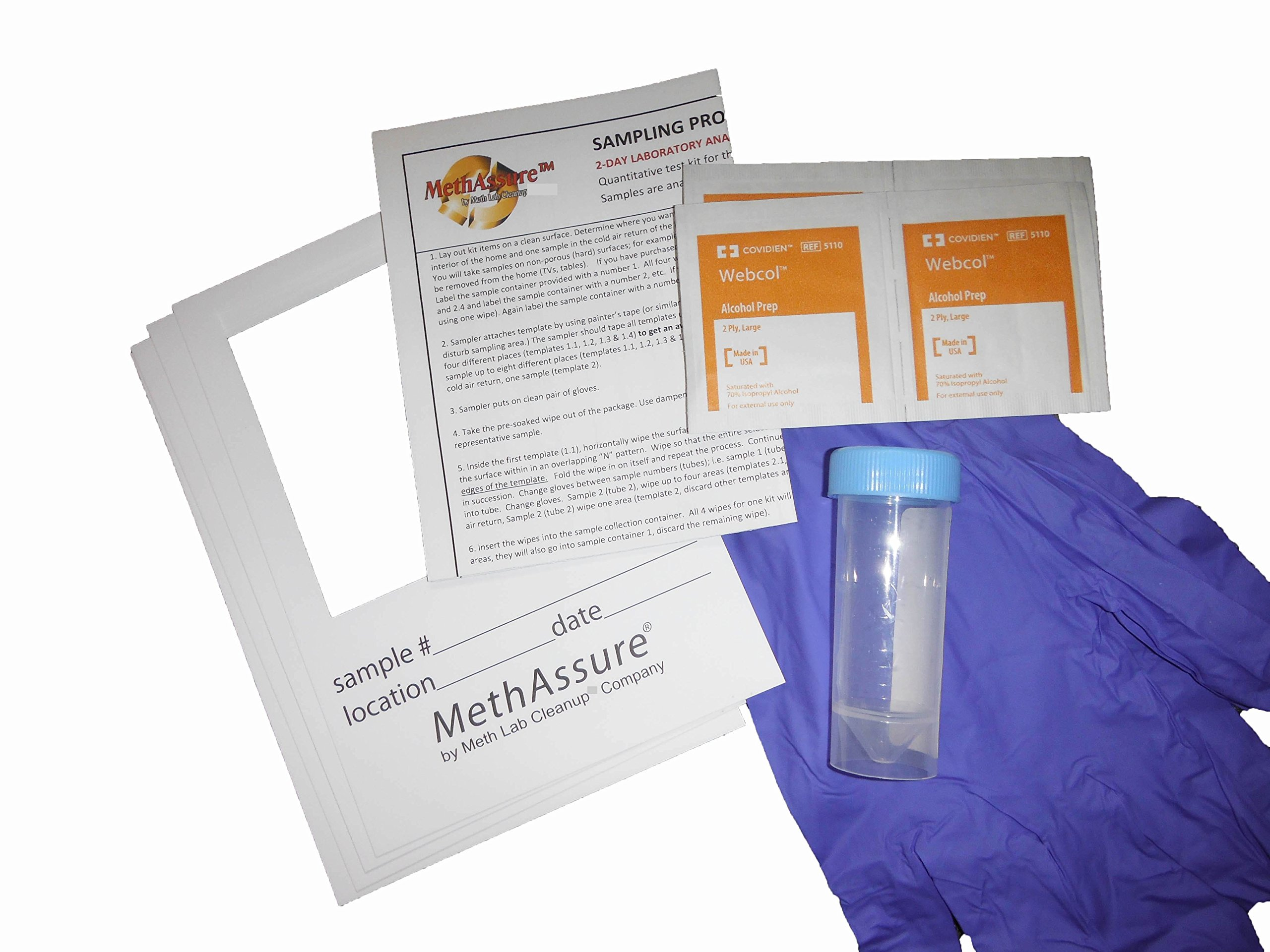 amazon com methassure laboratory analyzed meth residue test for