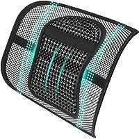 ASTOTSELL Soporte de espalda para silla de oficina, cojín de apoyo lumbar de malla,…