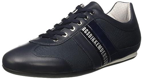 A Bikkembergs 106575 Basso Uomo Springer blue Sneaker Collo Blu xaqEfvw1