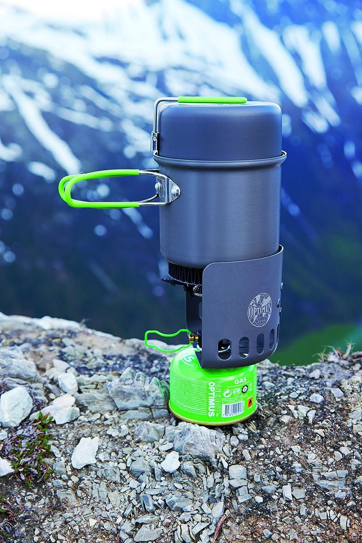 Relags Optimus Hornillo de Gas Juego Electra Fe eléctrica, Plata, One Size