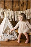little dove Newborn Baby Photo Props Monthly Baby Anniversary Lace Teepee with fur mat for One Year Photography Shoot Props