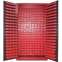 Armario para piezas pequeñas, color antracita, para almacenamiento, tornillos, armario de acero, moldau, 340 cajas, gran…
