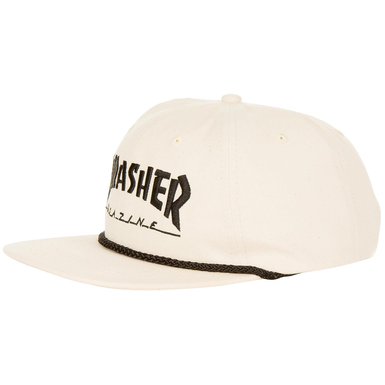 Thrasher Rope Snapback Cap White/Black One Size: Amazon.es ...