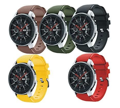 SongNi® for Samsung Galaxy Watch (46mm) Straps Correas[5 Pack] Soft Silicone Sport Replacement Strap Correa for Samsung Galaxy Watch (46mm) SmartWatch