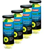 Tourna 4 Pack Pressurized Green Dot Tennis Balls in a Pressurized Can