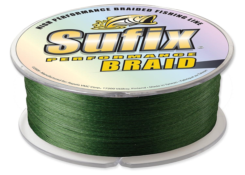 Sufixパフォーマンス1200-yardsスプールサイズ三つ編みライン B000EYU9D0 80-Pound|グリーン グリーン 80-Pound