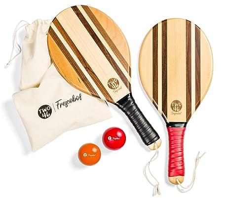two46 | Premium Set de palas de playa de madera para Frescobol ...