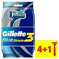 Gillette Blue simple3Rasoi Usa e getta per gli uomini, 4+ Confezione Confezione, confezione da (3X 5pezzi)
