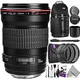Canon EF 135mm f/2L USM Lens w/ Essential Bundle - Includes: Camera Sling Backpack, Lens Hood, Altura Photo UV-CPL-ND4, Camera Cleaning Set
