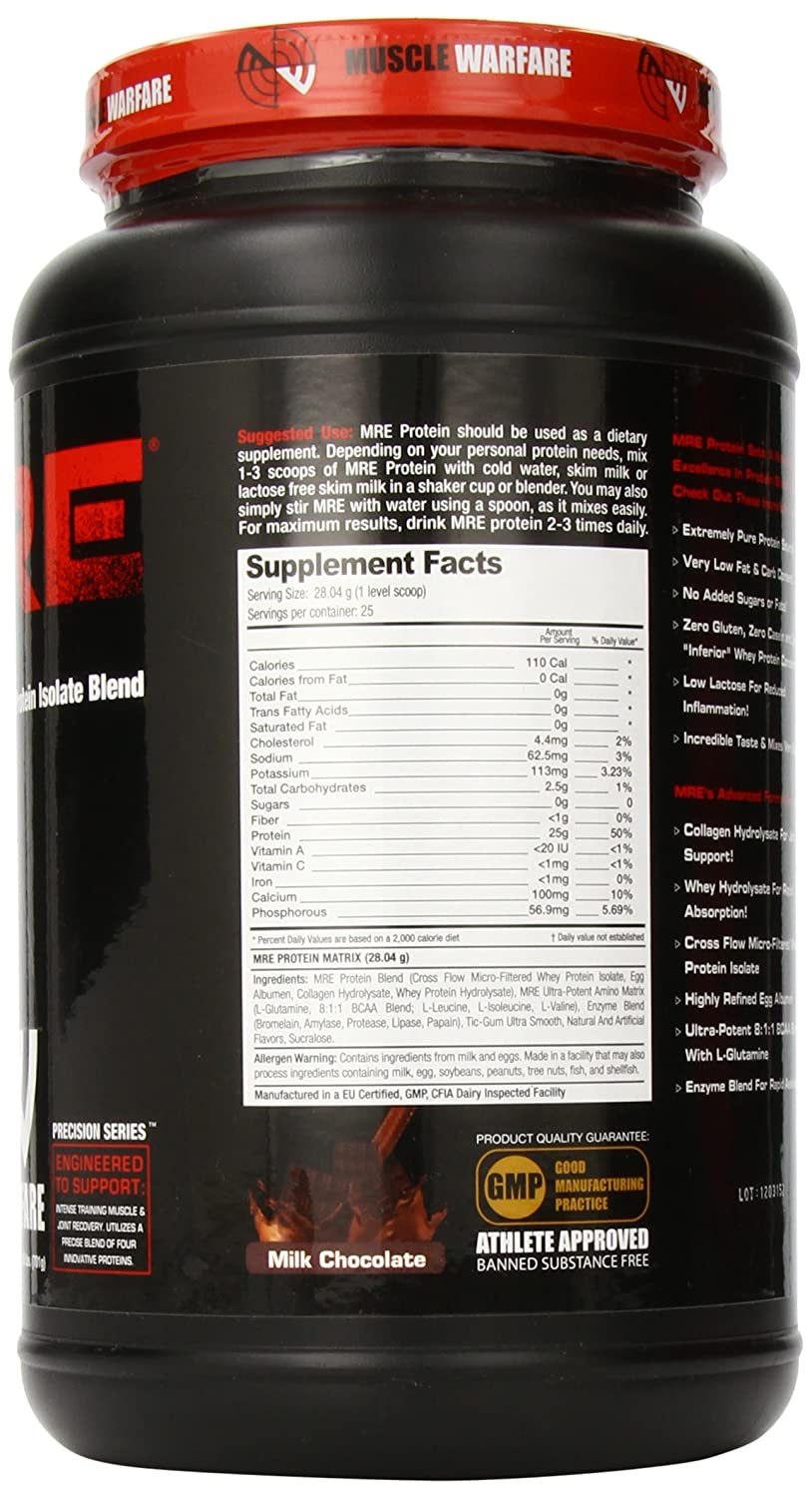 Amazon.com: Muscle Warfare MRE Protein Diet Supplements, Chocolate: Health & Personal Care