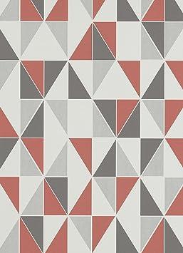 Papier Peint Intisse Motif Carreaux Rouge Gris Peint Erismann 6925