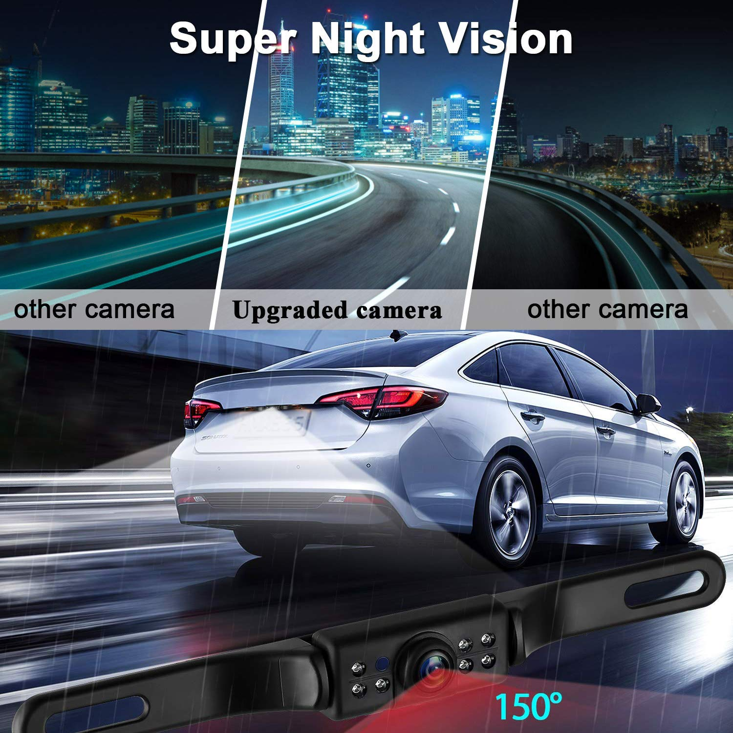 iStrong Backup Camera System 4.3 Monitor for Truck//Car//Pickup//Camper//SUV Mount Windshield Optional IP68 Waterproof Connecting Single Power Reversing//Driving Use Night Vision 4350450337