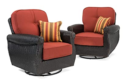 Remarkable La Z Boy Outdoor Breckenridge Resin Wicker Swivel Rocker 2 Piece Patio Furniture Set Brick Red With All Weather Sunbrella Cushions Gmtry Best Dining Table And Chair Ideas Images Gmtryco