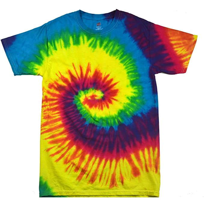 Amazon.com: Colortone Kids/Childrens Little Boys Rainbow Tie-Dye Heavyweight T-Shirt: Clothing