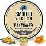 Hair Cream For Men | Smooth Viking Hydrating Fiber Cream (2 Ounces) - Hair Cream for Matte Finish & Medium Hold - Styling Cre