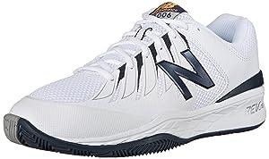 New Balance Men's MC1006V1 Black/White Tennis Shoe - 13 4E US