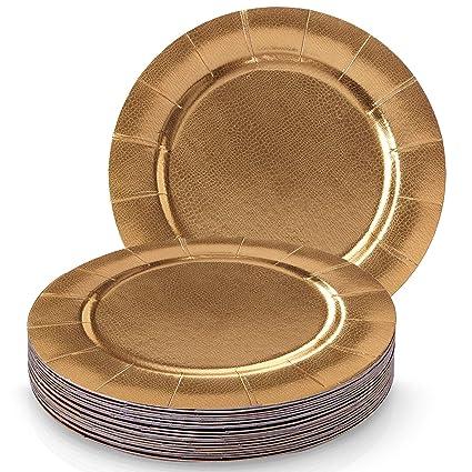 Silver Spoons CONJUNTO DE 20 BANDEJAS REDONDAS DESECHABLES | 20 Bandejas | Bandejas de cartón resistente