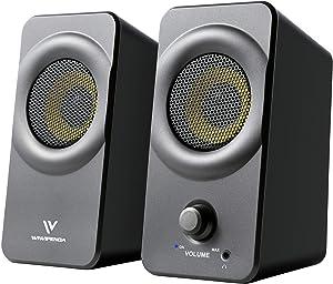 10W 2.0 USB Powered Desktop Speakers, Used for Desktop or Laptop Speakers.