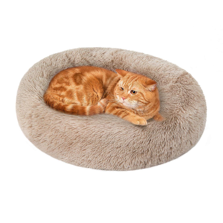 Cama para gatos de la cabaña Loves para gatos de interior - Cama para gato con lavable a máquina, parte inferior impermeable - Cama acolchada para perro y gato calmante para alivio