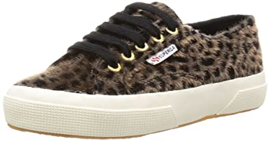 9ed5d9885408 Superga 2750 Leopardhorsew, Unisex-Erwachsene Sneaker, Black (903 Black  Taupe),